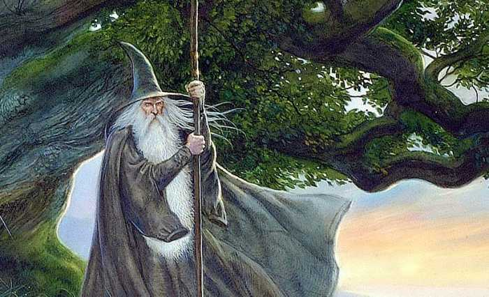 """Gandalf from """"The Lord of the Rings"""" by John Howe."""
