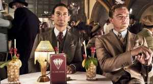 Nick and Gatsby at lunch in The Great Gatsby