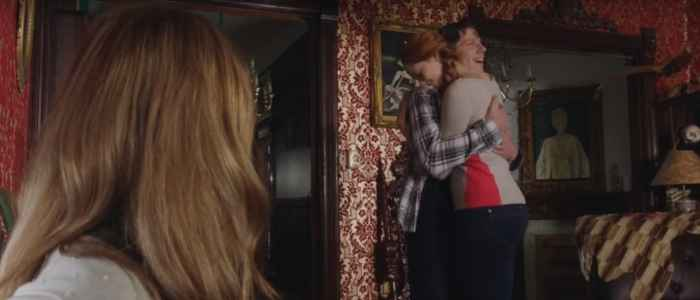 "Kirsch and Danny hugging it out on Carmilla's ""Zones of Friendship"" episode."