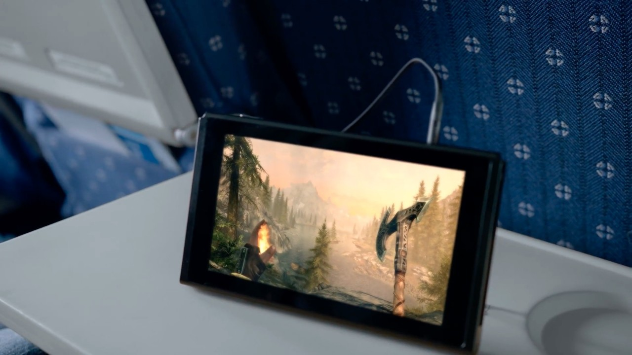 Video of Skyrim was shown in the Switch reveal trailer