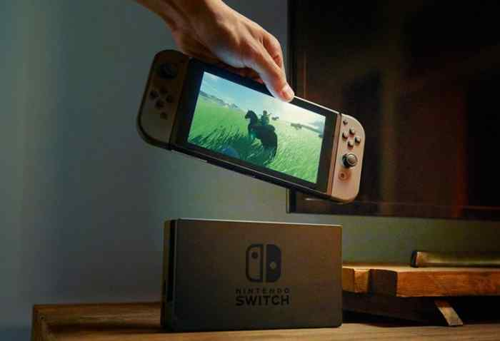 The port and tablet of Nintendo's new hybrid device