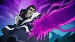 "Unalaq permanently merging with the dark spirit Vaatu in the episode ""Darkness Falls."""