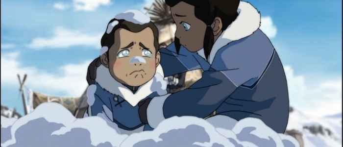 "A young Noatak (now known as Amon) looking after his little brother Tarrlok in the episode ""Skeletons in the Closet."""
