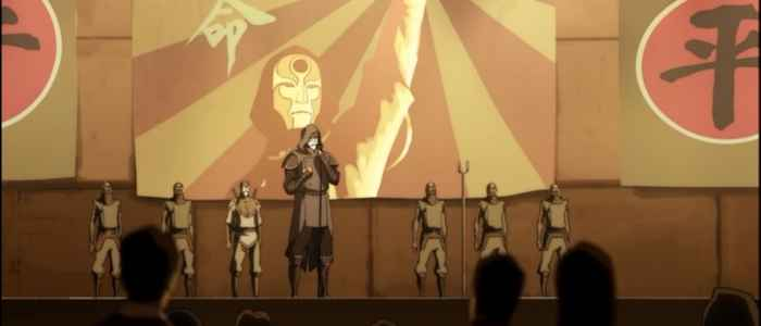 """Bloodbender Noatak, under the guise of being a non-bender named Amon, in the episode """"The Revelation."""""""