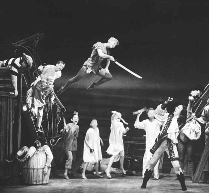 1907 production of Peter Pan, using Kirby's apparatus.