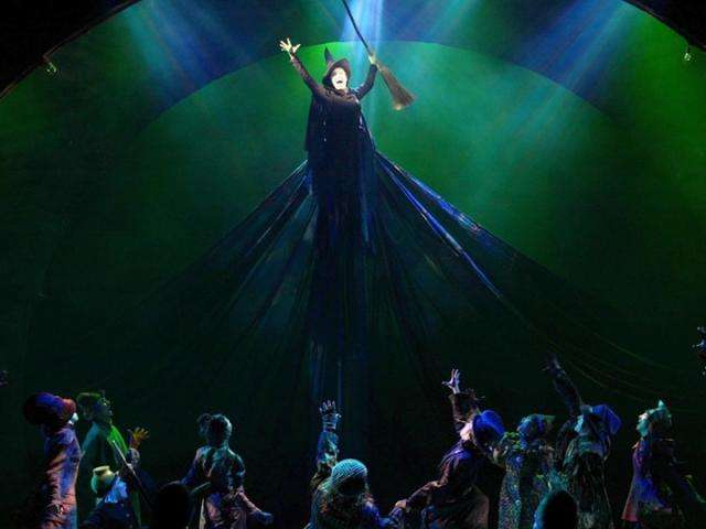 """Defying Gravity"" at the end of Act One of Wicked."