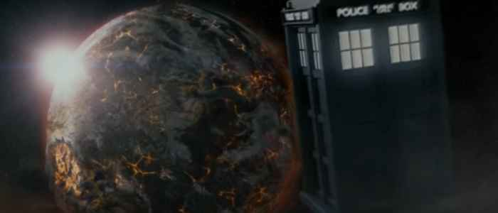 "The Tardis flying solo in the unfathomable cosmos, in the Doctor Who episode "" The Name of the Doctor."" Author's screenshot via YouTube."