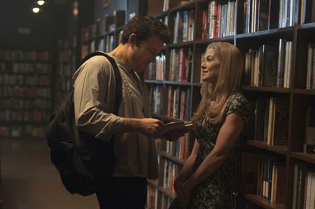 "Nick and Amy enjoy the ""fairytale early days"" of marriage in Gone Girl."