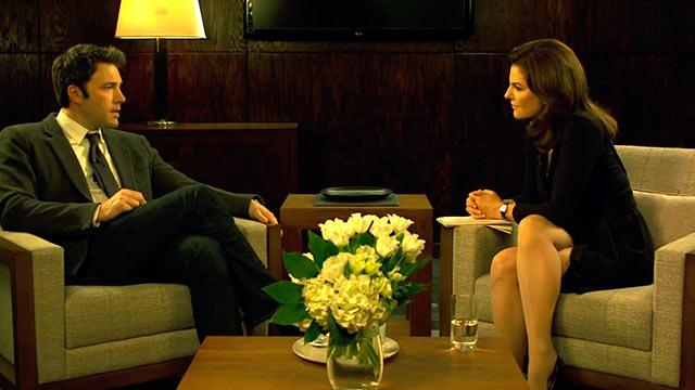 Sharon Schieber interviews Nick Dunne in Gone Girl.
