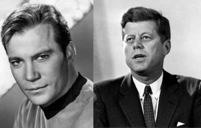 "Captain Kirk was inspired in part by President Kennedy, and JFK's ""New Frontier"" was a template for Star Trek's ""Final Frontier."""