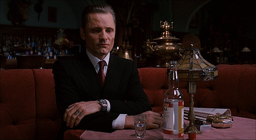 Nikolai sits alone at the end of Eastern Promises.