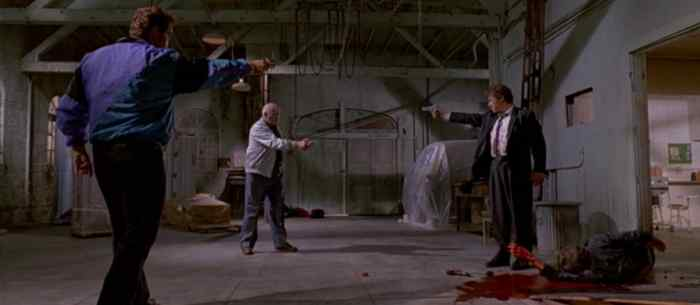 The western shootout in reservoir dogs.