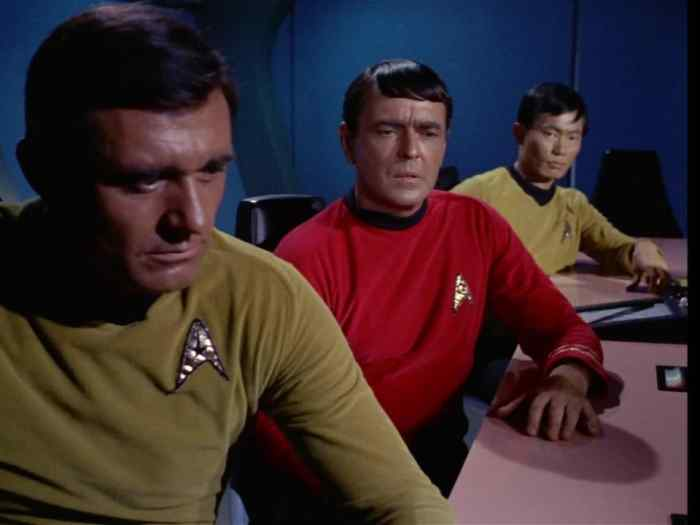 Lt. Stiles urges Kirk to attack—and again questions Spock's loyalty.