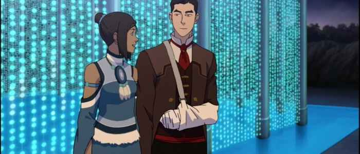 "Mako vowing to always be by Korra's side in ""The Last Stand"" episode of The Legend of Korra. Author's screenshot captured via the DVD."