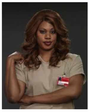"figure 5b TV actress Laverne Cox, ""Orange is the New Black"" photo by Jill Greenberg/Netflix 5/29/14 2:15 PM EDT www.people.com"