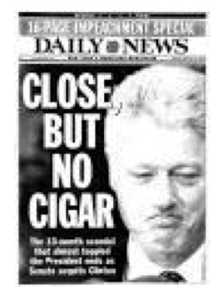 figure 6b President Bill Clinton cover, New York Daily News 2/13/1999 www.nydailynewspix.com