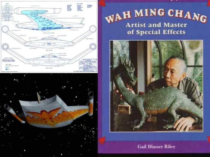 Wah Ming Chang designed the Romulan Bird-of-Prey, as well the the Tricorder, the Tribbles, and much more for Star Trek.