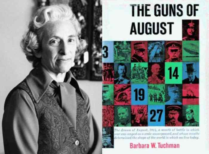 The Guns of August by Barbara Tuchman helped the world avoid nuclear war. It was published in 1962, shortly before the Cuban Missile Crisis, and was read by JFK.