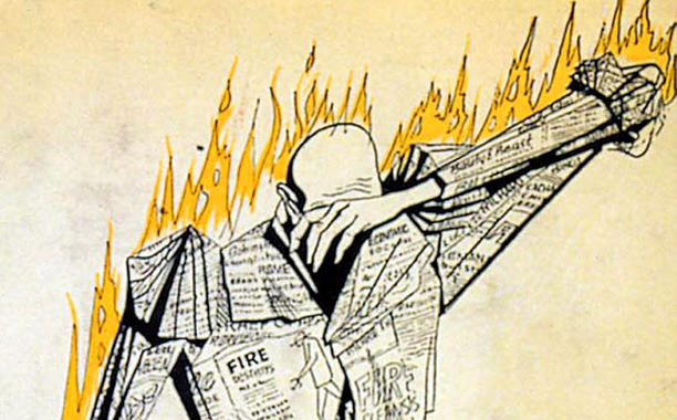 """fahernheit 451 Author ray bradbury died on tuesday he named his most famous book, fahrenheit 451, after """"the temperature at which book-paper catches fire, and burns."""