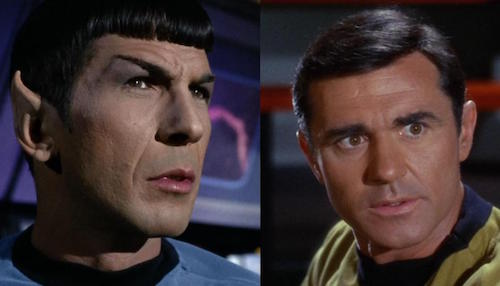 Spock's loyalty is questioned by Lt. Stiles because he looks like a Romulan.