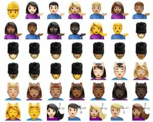 The new and improved variety of skin tone options in emoji