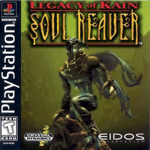 Legacy of Kain: Soul Reaver cover art. This game is a PSOne exclusive, and has been included in the PSOne classics category of Playstation's online game store.