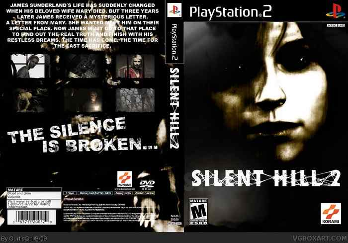 Cover for Silent Hill 2, a PS2 exclusive and second title in the Konami Silent Hill series.