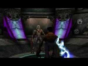 A screenshot taken from the ending cutscene of Soul Reaver