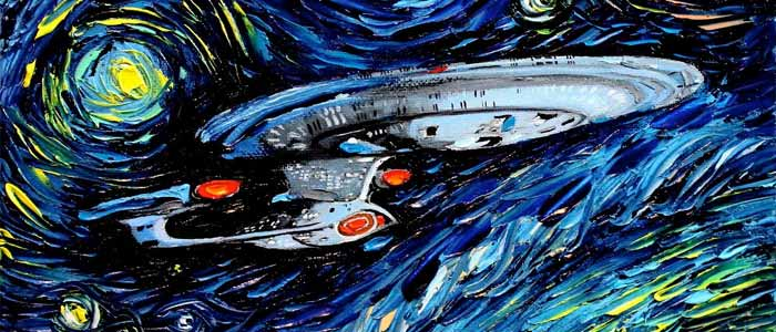 """Star Trek meets Van Gogh"" by Aja Apa-Soura."
