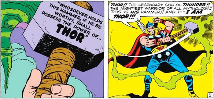 thor s worthiness to wield the hammer the artifice