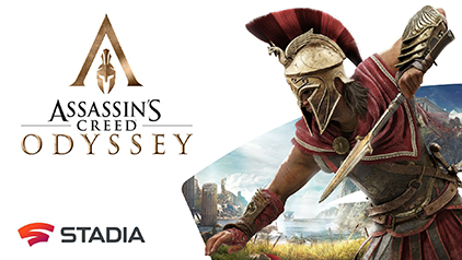 Assassin's Creed Odyssey and Google Stadia advertisement
