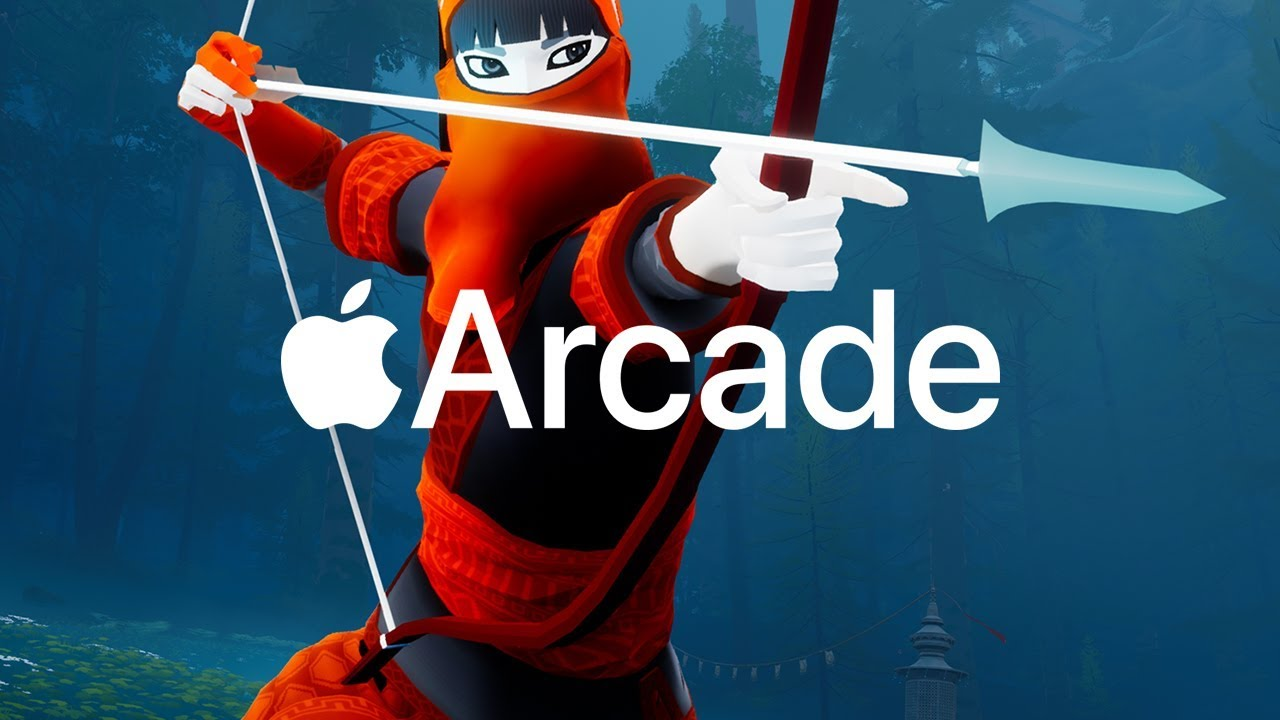 The Pathless and Apple Arcade promo banner