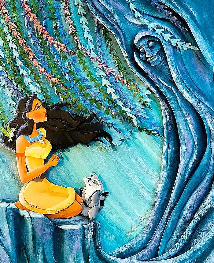 Pocahontas and spirit guide Grandmother Willow