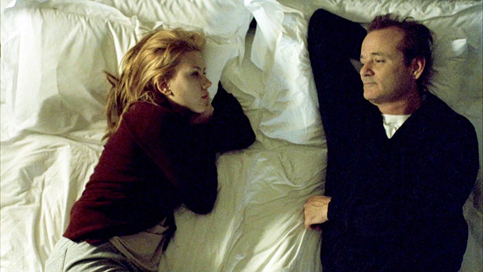 Lost in Translation on the bed