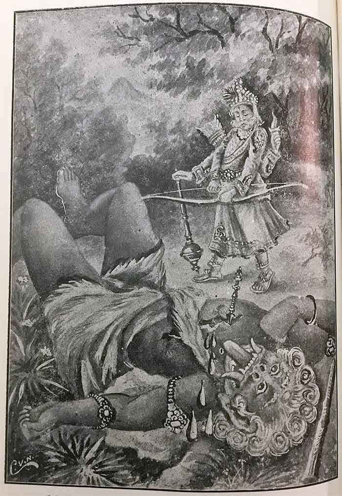 Indra killing Vrttirasura