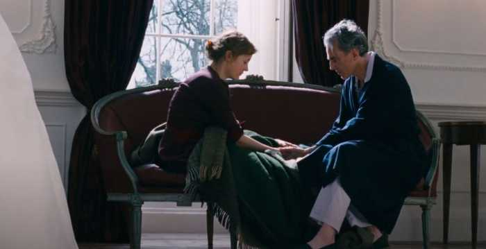 Phantom Thread Reynold proposes to Alma