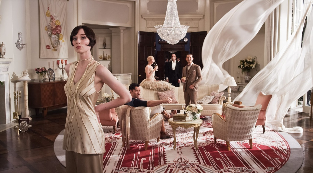 Movie still from the 2013 adaptation of The Great Gatsby.