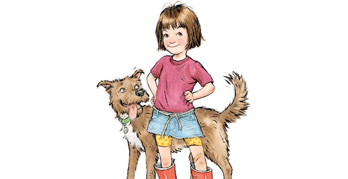 Ramona Quimby and a dog