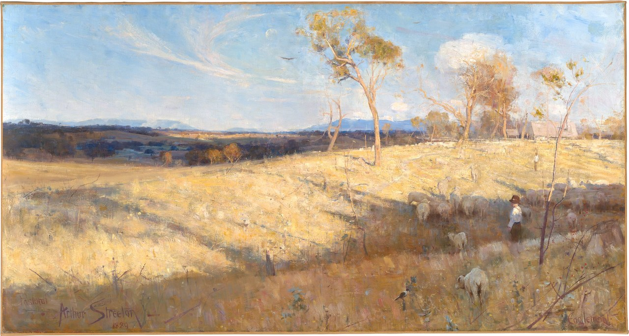 Painting of Australian landscape