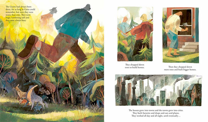 Pages 5-6 of Greta and the Giants.