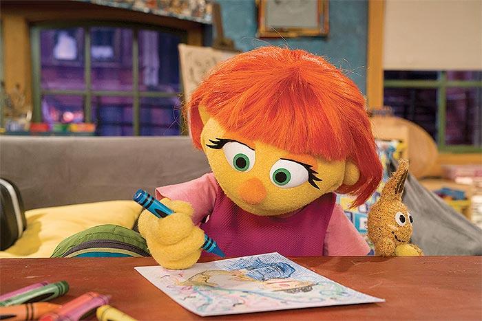Julia in Sesame Street.