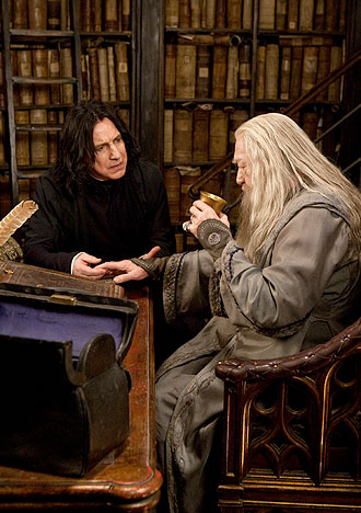 Snape and Dumbledore.
