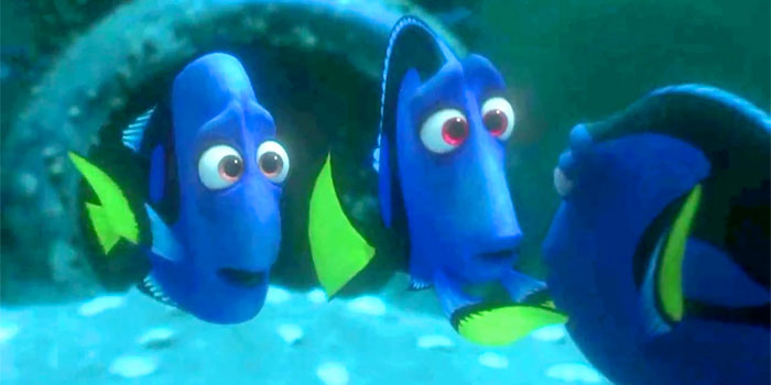 Dory finding her parents