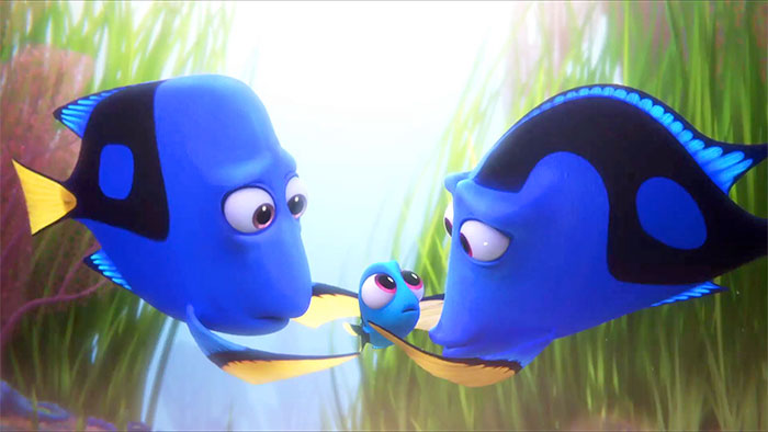 Dory with her parents