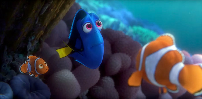 Dory with Nemo and Marlin