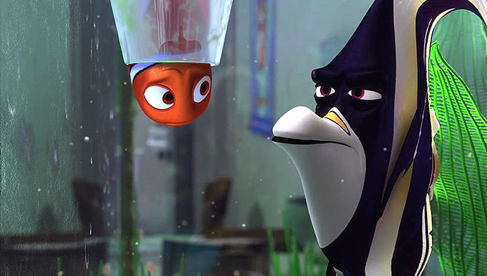 Nemo interacting with Gill