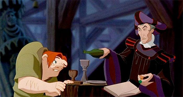 Frollo and Quasimodo