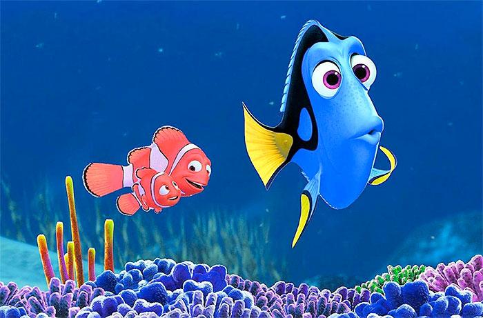Marlin, Nemo, and Dory
