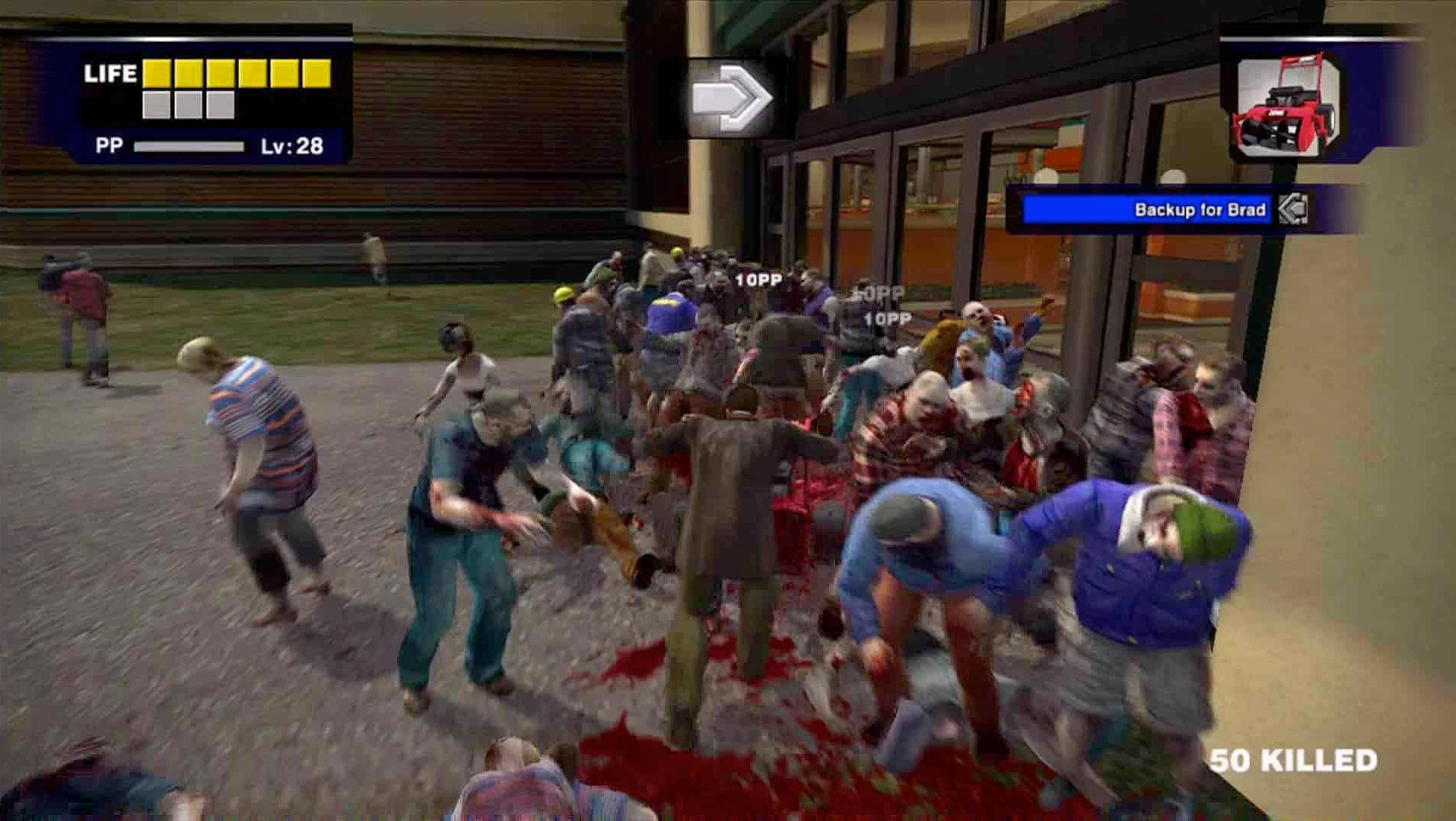 One of the many, many ways to kill zombies in this game